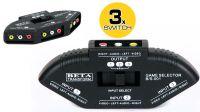 Data switch audio e video de 3 entradas a 1 saída