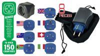 Kit universal de viagem 7 adaptadores de corrente