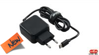 Carregador universal 110-240V Tipo C USB 5V/3A preto 1m.