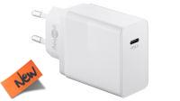 Carregador universal 110-240V 1x USB-C PD/3A Branco