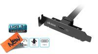 Cabo adaptador PCI bracket low profile interno USB 3.1 Gen2 ligação motherboard