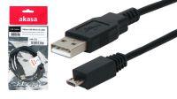 Cabo Akasa USB 2.0 Tipo A-Micro B Macho-Macho 1 m