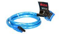 Cabo SATA 3 6Gbs angulado azul UV