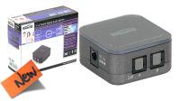 Divisor de audio digital Toslink 1 entrada para 2/4 saídas