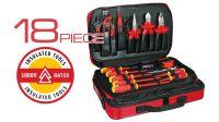 Kit de ferramentas electricista 18 peças