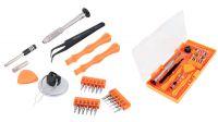 Kit de ferramentas chave magnética com pontas precisão e acessórios rep. telemóvel 26 peças