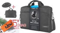 "Mala p/portátil Natec Wallaroo 15.6"" inclui rato wireless 1600Dpi negro"