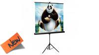 """Tela 112"""" para projecção de video area util 200x200cm com tripé"""
