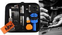 Kit de ferramentas com chaves e acessórios para reparação relógios