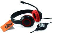 Auriculares con micrófono CONCEPTRONIC USB con control de volumen negro