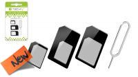 Adaptador SIM Card 4 em 1 com gancho