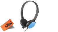 Auscultador com Microfone UGO Mini Jackx2 negro+azul 1.50mt